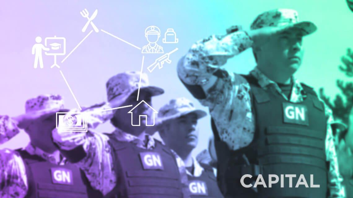 prestaciones y sueldos de la Guardia Nacional