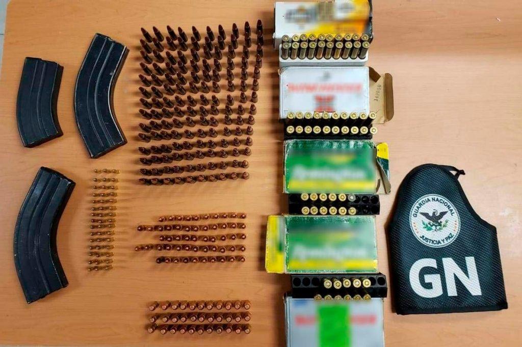 Cartuchos Foto: Guardia Nacional