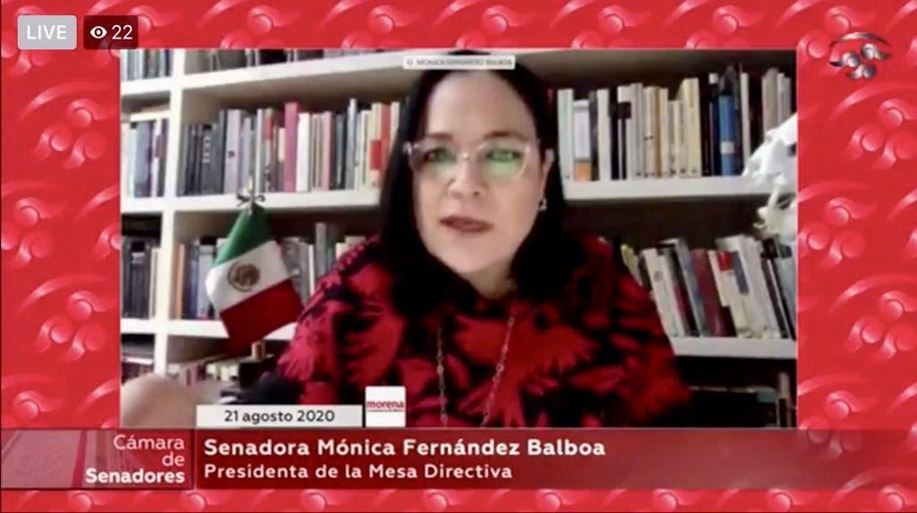 Senado replicará prácticas de otros países para cumplir sus funciones de manera oportuna y segura: Mónica Fernández