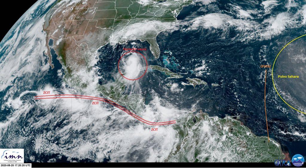 Laura se convierte en huracán en Golfo de México; amenaza costas de EUA