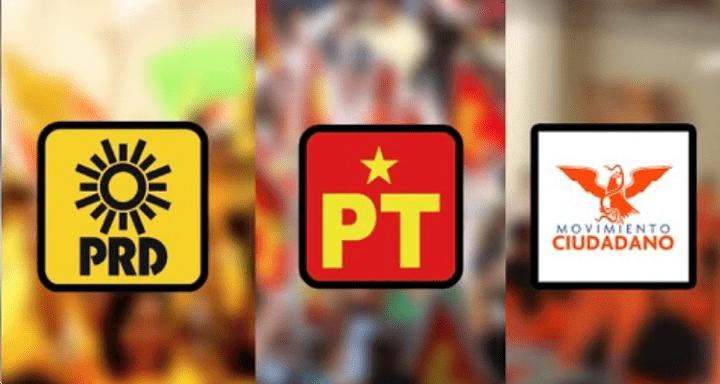 PRD - PT - Movimiento Ciudadano Foto: Internet