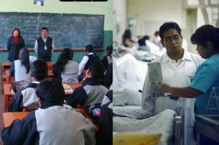 Educación, salud Foto: Internet