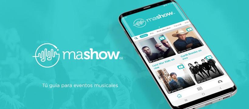 Mashow es una app mexicana que implementa múltiples eventos en streaming