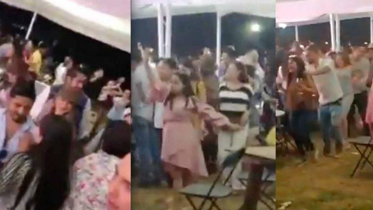 Sin sana distancia ni cubrebocas, multitud celebra cata de vinos en Aguascalientes