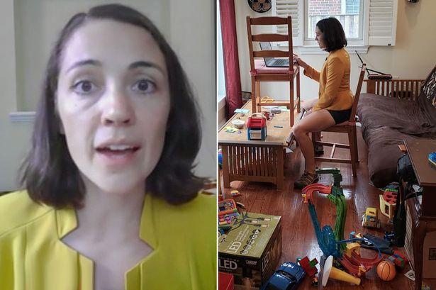 Científica y madre mostró la realidad de videollamadas con hijos