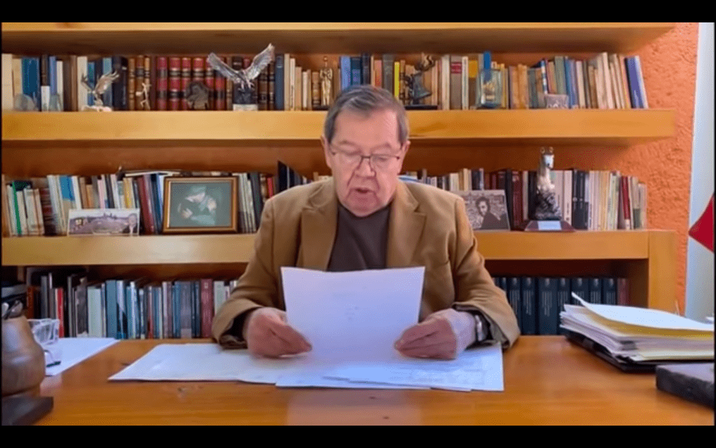 Advierte Muñoz Ledo que por la vía judicial impugnara triunfo de Mario Delgado a la dirigencia de Morena