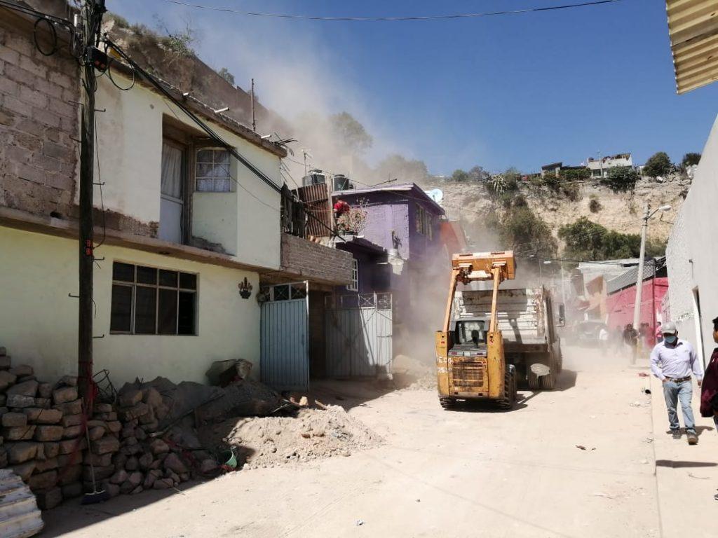 """SEDENA activó """"Plan DN-III-E"""" tras desgajamiento de cerro en Ecatepec, Estado de México"""