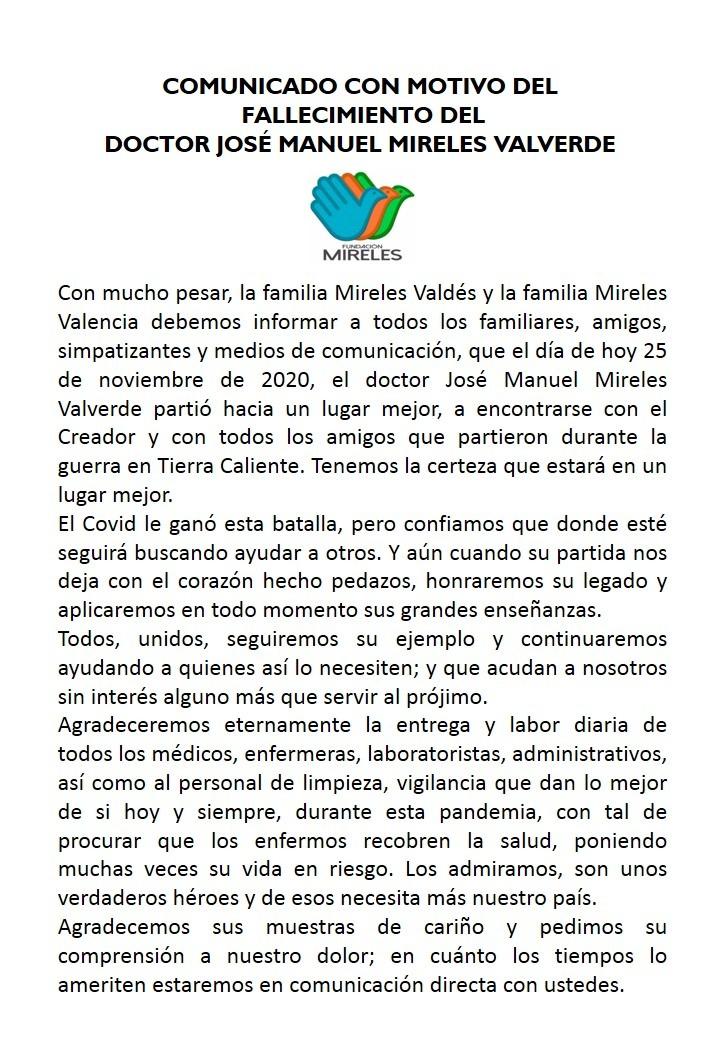 Muere José Manuel Mireles
