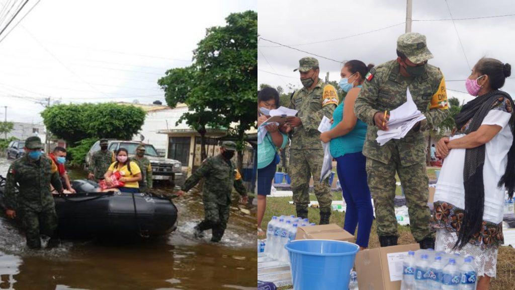 """SEDENA continúa con """"Plan DN-III-E"""" en Tabasco, Veracruz y Yucatán"""