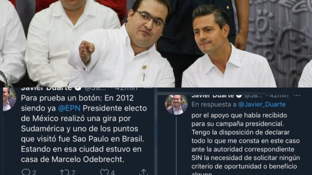 EPN si recibió apoyo de Odebrecht, tengo disposición de declarar en caso Lozoya: Duarte