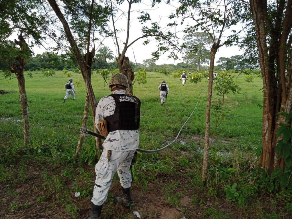 Guardia Nacional y Pemex localizaron toma clandestina en Huimanguillo, Tabasco