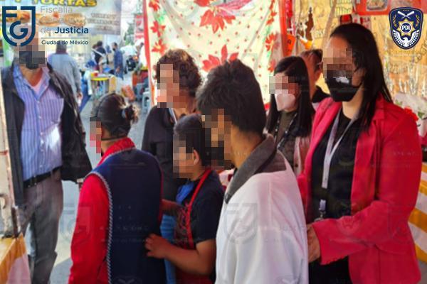 Fiscalía CDMX rescata a una mujer y 3 menores víctimas de trata de personas en Azcapotzalco