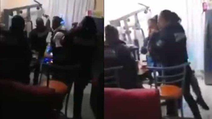 Captan en fiesta a policías sin sana distancia y tirando balazos en Morelia (Video)