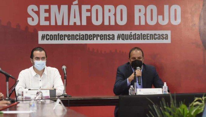 Por aumento de hospitalizaciones, Morelos pasa a semáforo rojo por Covid-19