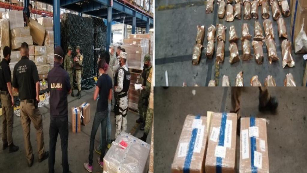 GN, Aduanas y FGR impidieron ingreso al país de 55 kilos de fentanilo en Guadalajara