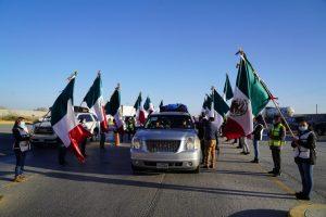 Llega 13ª caravana de migrantes a Jalpan de Serra, Querétaro