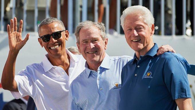 Obama, Bush y Clinton podrían vacunarse en público para aumentar confianza de población