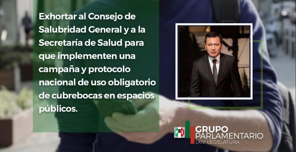 Propone Osorio Chong obligatoriedad del uso de cubrebocas