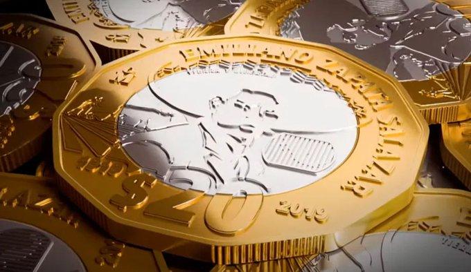 Banxico rinde homenaje a Zapata con moneda de 20 pesos conmemorativa