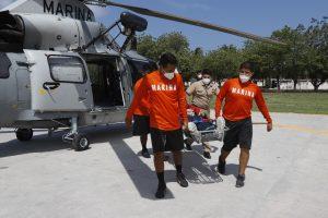 Semar realizó evacuación médica de tripulante de buque con bandera sueca en Colima