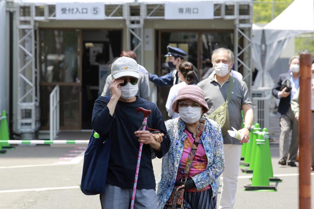 Japón abre centros de vacunación masiva 2 meses antes de los Juegos Olímpicos Foto: AP