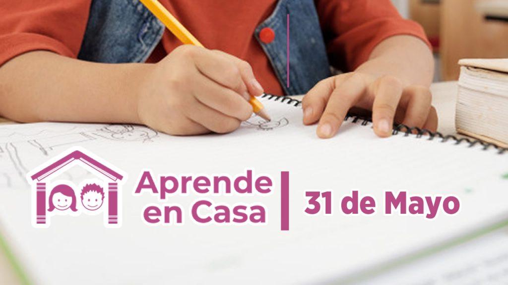 31 de mayo aprende en casa