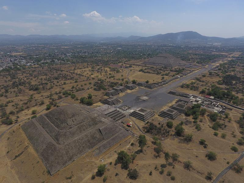 Peligran ruinas arqueológicas de Teotihuacan Foto: AP