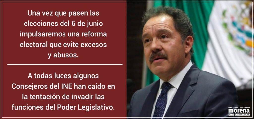 Anuncia Morena reforma electoral para evitar actuaciones facciosas y miopes de algunos consejeros del INE, luego de elecciones