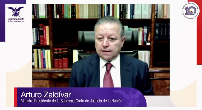Arturo Zaldívar Foto: @SCJN