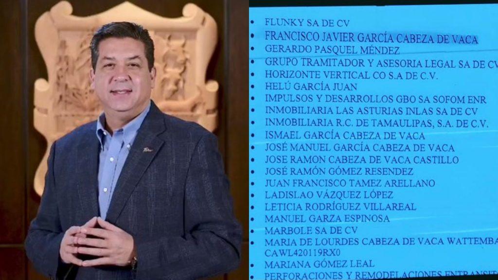 EUA pide información de más de 30 ligados a gobernador de Tamaulipas