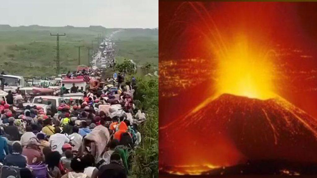 Miles de congoleños huyen de Goma por riesgo de erupción (Video)