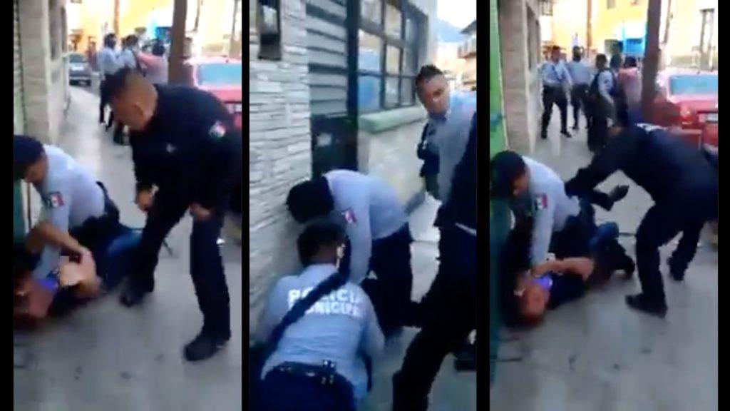 Con abuso de autoridad, Policías de Pachuca golpean fuertemente a ciudadanos (Video)