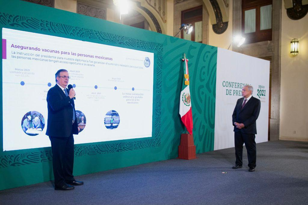 México podría recibir vacunas de EUA