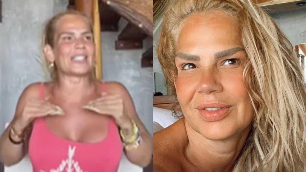 Niurka muestra los senos en entrevista en televisión nacional Foto: Internet