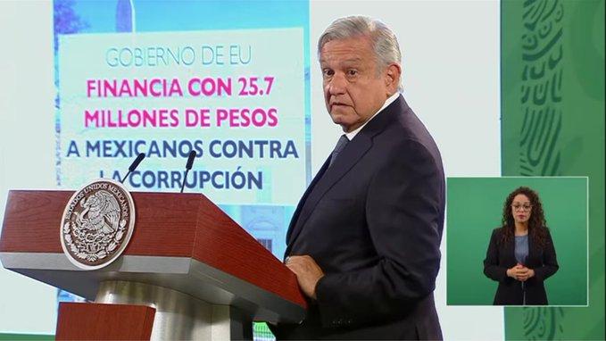 AMLO presenta nota diplomática a EUA por financiamiento a Mexicanos Contra la Corrupción