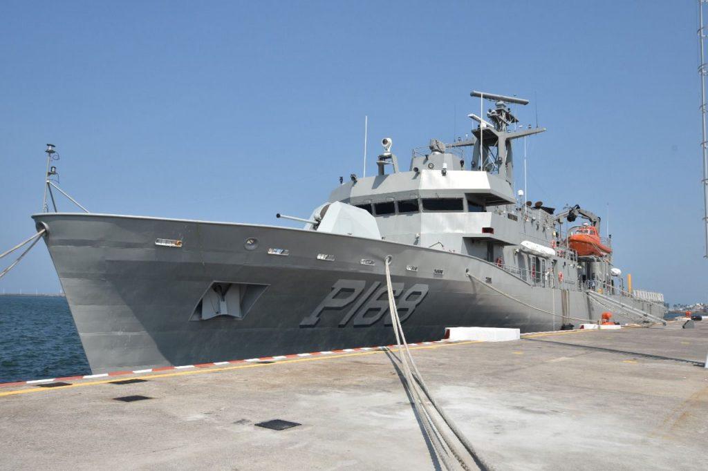 """La Patrulla Oceánica ARM """"TABASCO"""" (PO-168), es el buque más nuevo de la Semar"""