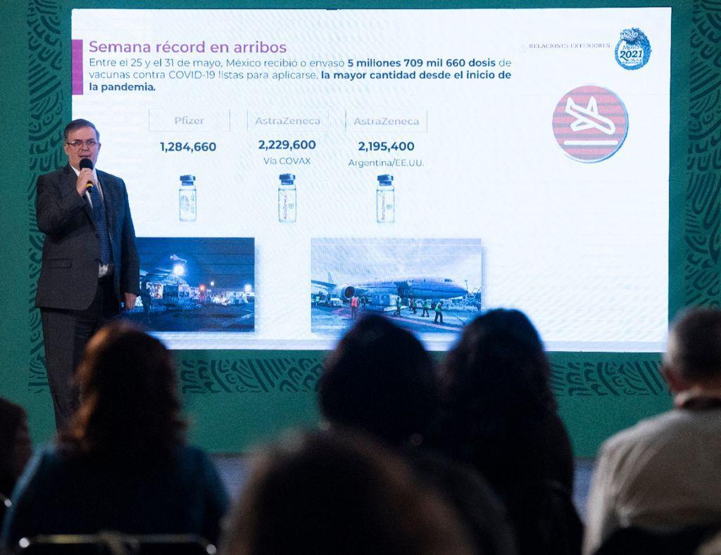 México en noveno lugar de aplicación de vacunas: Marcelo Ebrard