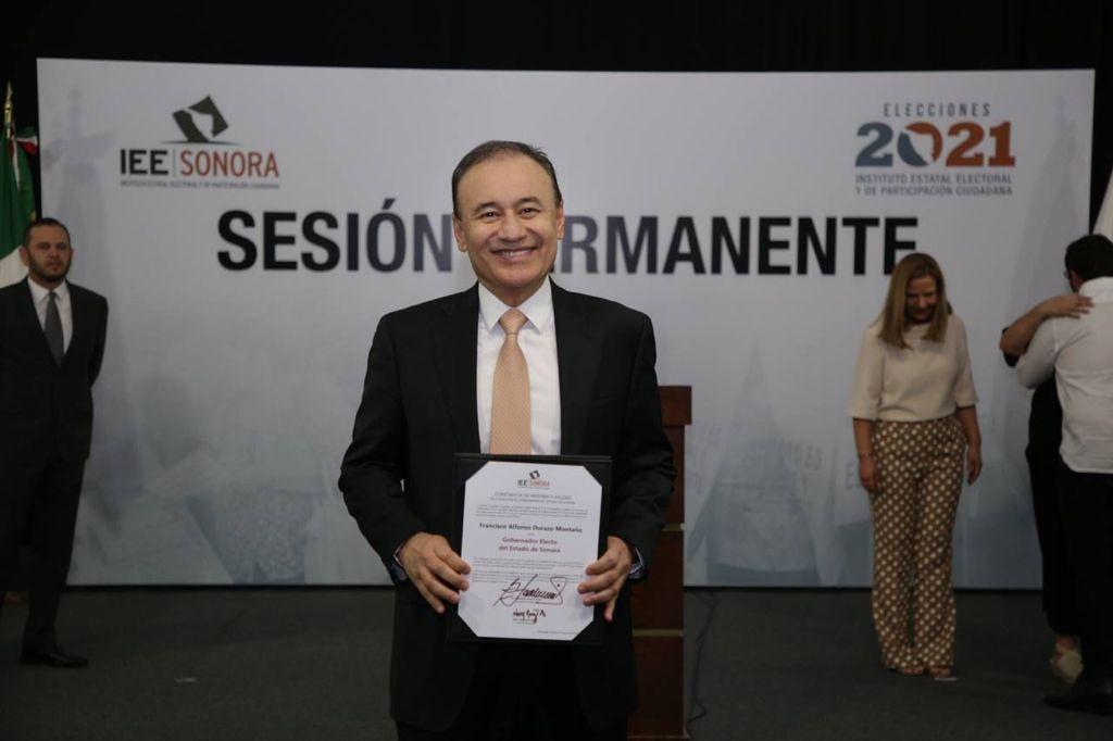 AMLO recibirá a gobernador electo de Sonora