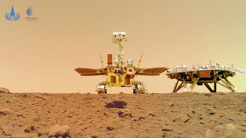 Fotos muestran explorador chino en la superficie de Marte Foto: AP