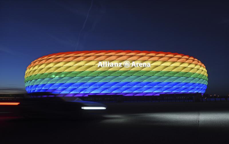 UEFA rechaza que estadio de Múnich se ilumine con arcoiris