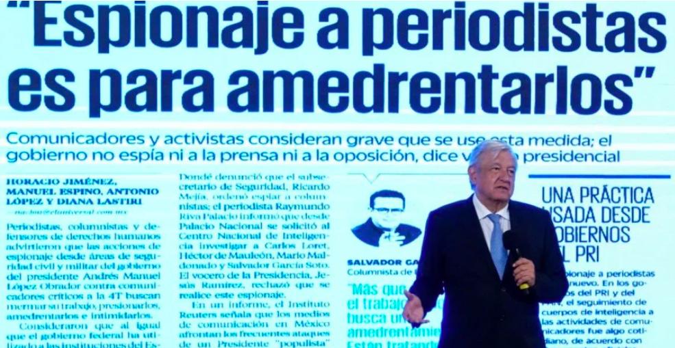 """AMLO niega espionaje a periodistas; """"qué caso tiene"""""""