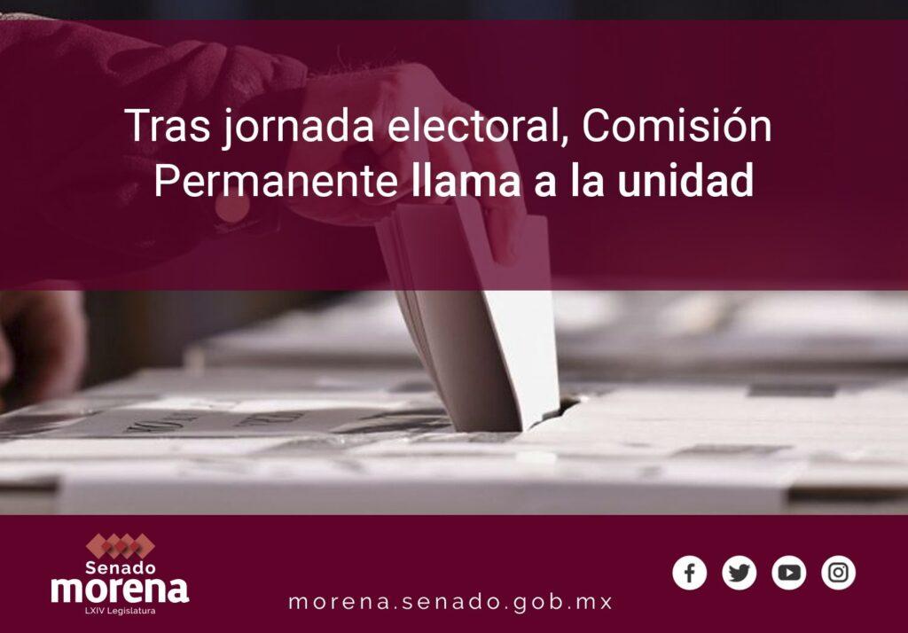 Senadores de Morena revisarán logros de la jornada electoral