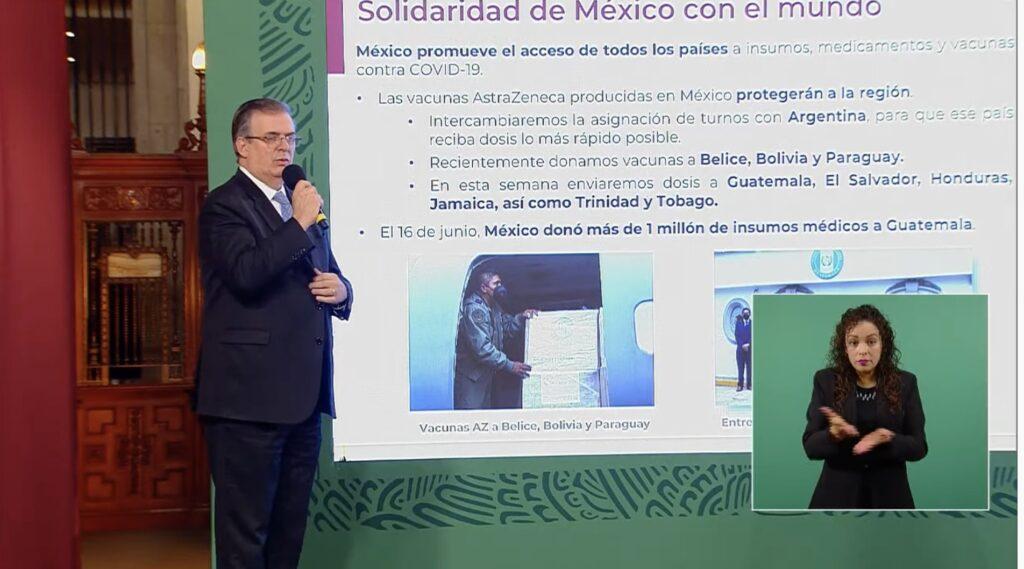 México donará vacunas a Guatemala, El Salvador, Honduras, Jamaica y Trinidad: SRE