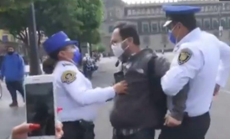 CNDH hace enérgico llamado para investigar la actuación de policías de CDMX que detuvieron a periodistas en el Zócalo