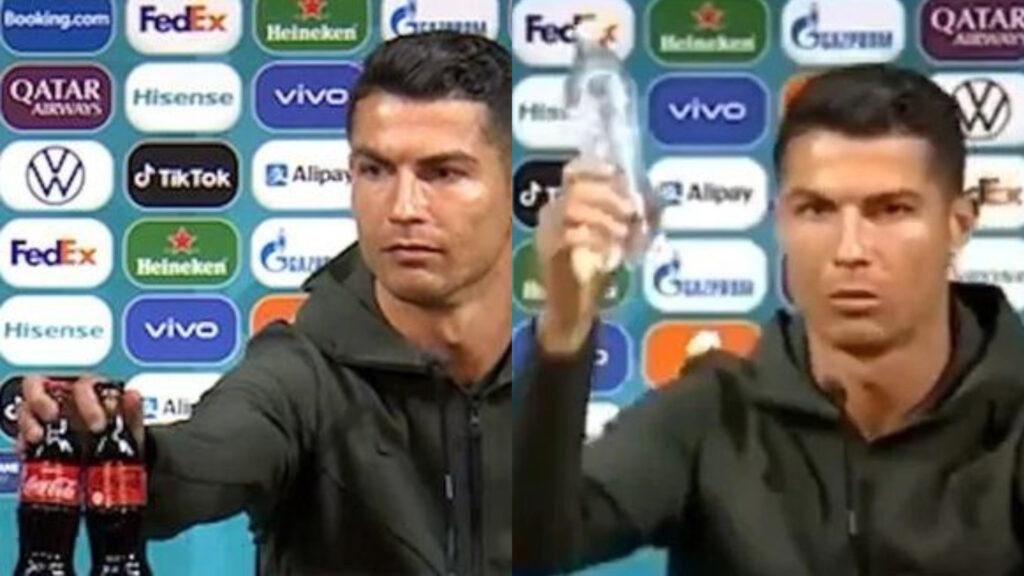 """""""Más agua, menos refresco"""": Cristiano Ronaldo"""
