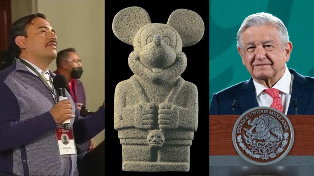 """Reportero propuso a AMLO crear Disneylandia de la """"gran Tenochtitlán"""" en NAIM (Video)"""