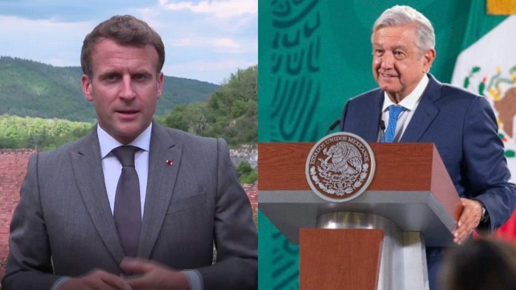 AMLO condena agresión a Emmanuel Macron