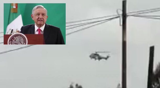 AMLO critica a candidato por usar helicóptero lujoso