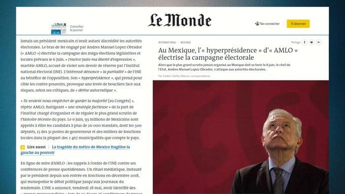 """Le Monde contra AMLO, lo critica por su """"hiperpresidencia"""""""