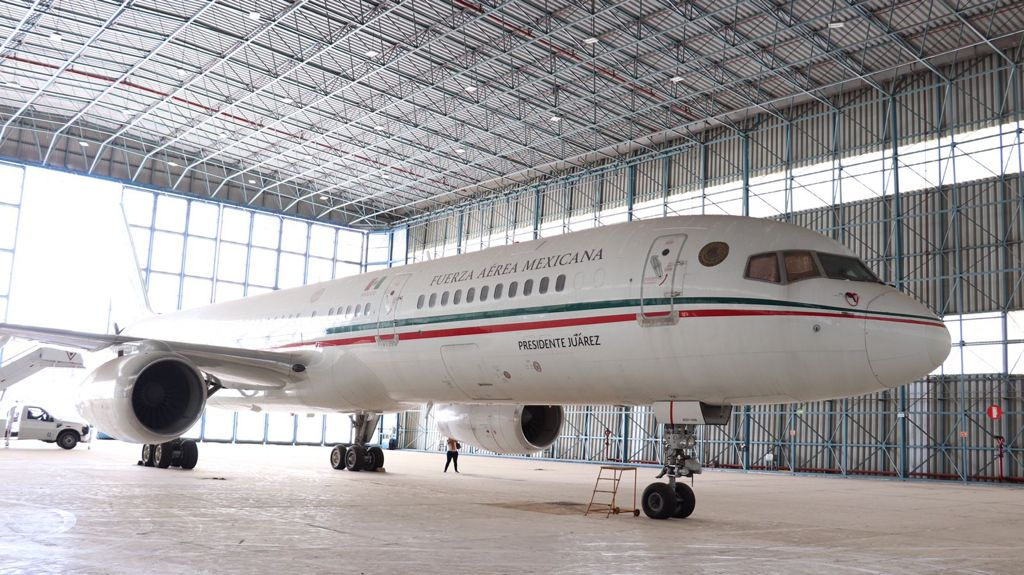 Venden avión Foto: Presidencia